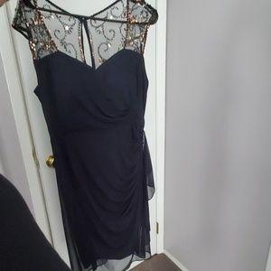 Navy blue sequence dress
